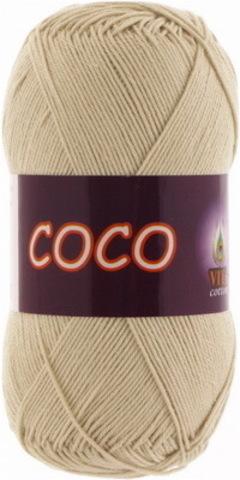 Пряжа Coco (Vita cotton) 3889 Светло-бежевый
