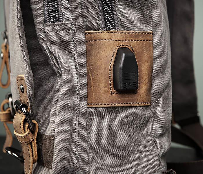 BAG476-3 Удобный мужской рюкзак с USB зарядкой фото 05