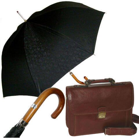 Комплект #6 Hexagona портфель и зонт трость Baldinini Jacquard