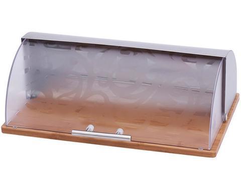 Хлебница Wellberg Style 7006 Нержавейка, Дерево, Пластик (WB-7006)
