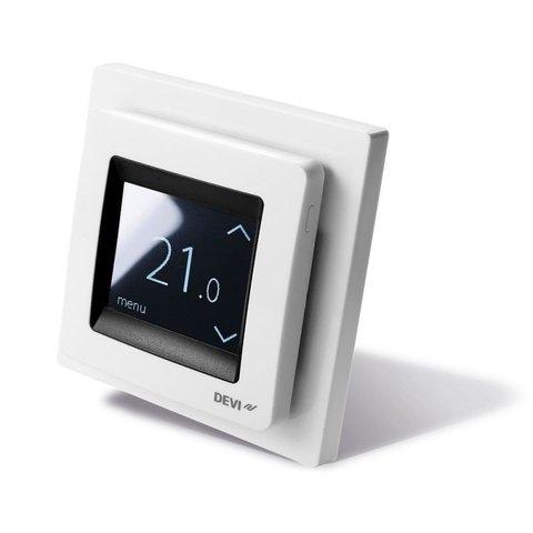 Терморегулятор для теплого пола. Терморегулятор DEVIreg™ Touch c комбинацией датчиков, полярно-белый. 16А. 140F1071
