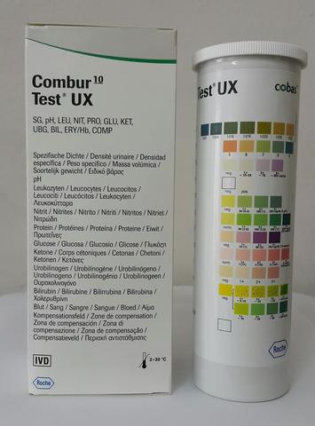 11544373191 Тест-полоски Комбур 10 тест UX  (Combur 10 Test UX) 100шт/уп /Roche Diagnostics GmbH, Germany/Рош Диагностика Рус, Германия/