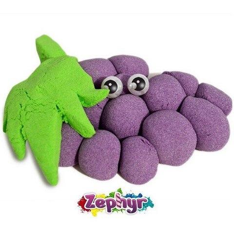 Кинетический пластилин Zephyr (Зефир) в дой-паке, фиолетовый 300 гр