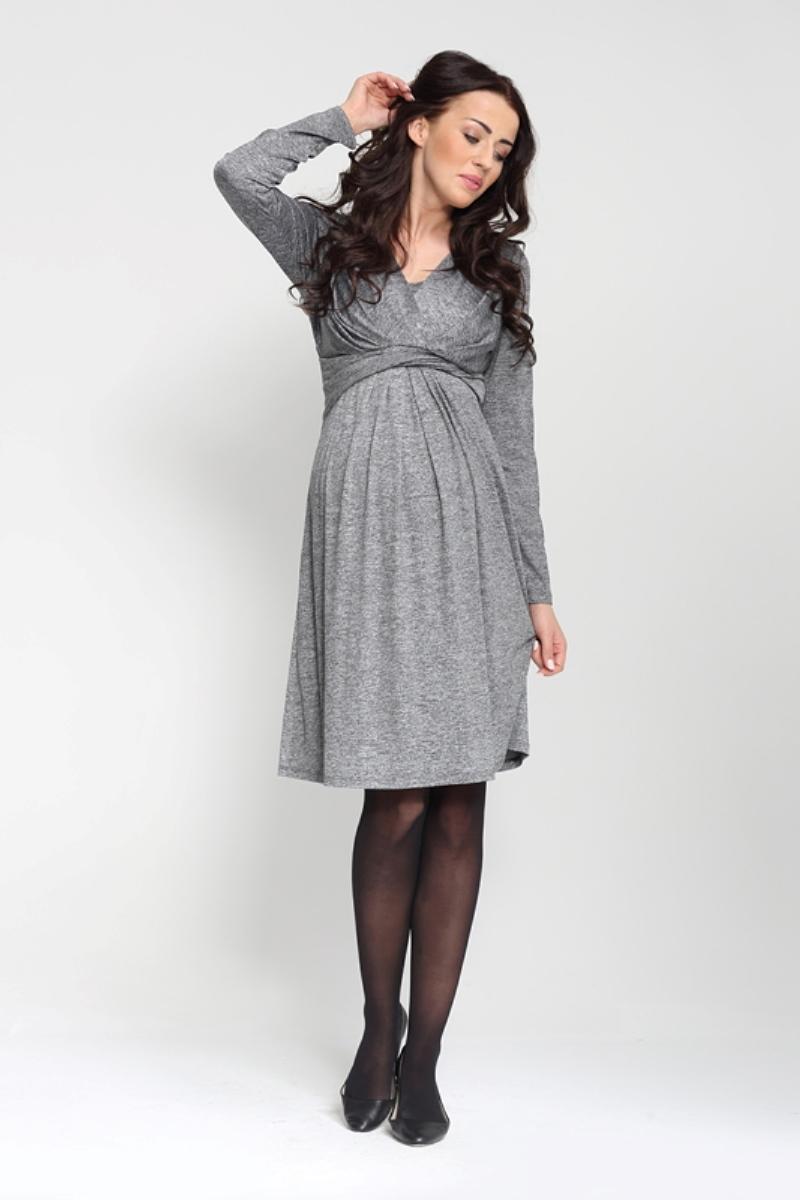 Платье для беременных 05398 графит меланж