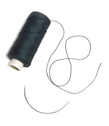 Balmainhair Нить для вшивания тресса Цвет черный SBW thread, 1 weaving needle black