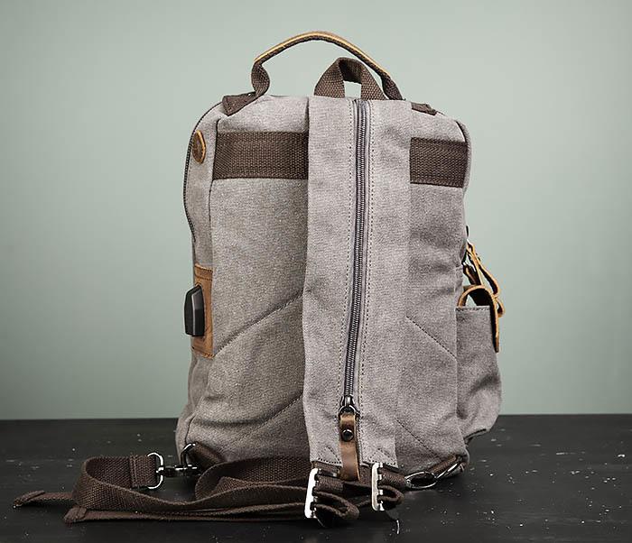 BAG476-3 Удобный мужской рюкзак с USB зарядкой фото 06