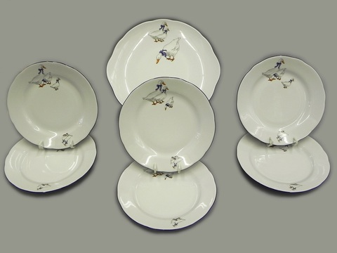 Сервиз для торта 7 предметов с десертными тарелками 17 см Мэри-Энн Leander