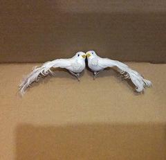 Птички голуби на зажиме 10,5-14 см, 1 шт.