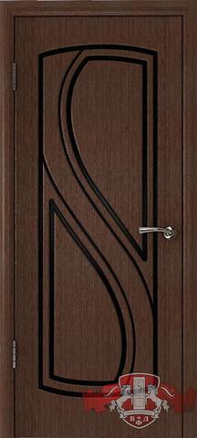Дверь 10ДГ4 (венге, глухая шпонированная), фабрика Владимирская фабрика дверей