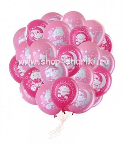 шарики для девочки на выписку из роддома www.shop-shariki.ru