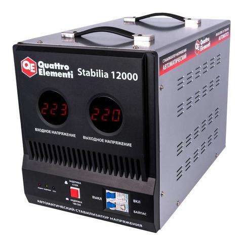 Стабилизатор напряжения QUATTRO ELEMENTI Stabilia 12000 (12000 ВА, 140-270 В, 20.5 кг, байпас)