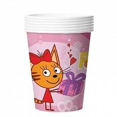 "Стаканы ""Три кота"" розовые"