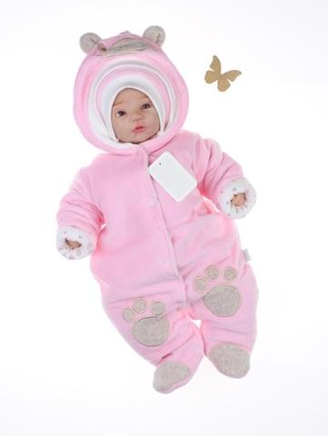 Велюровый комбинезон Little Bear розовый