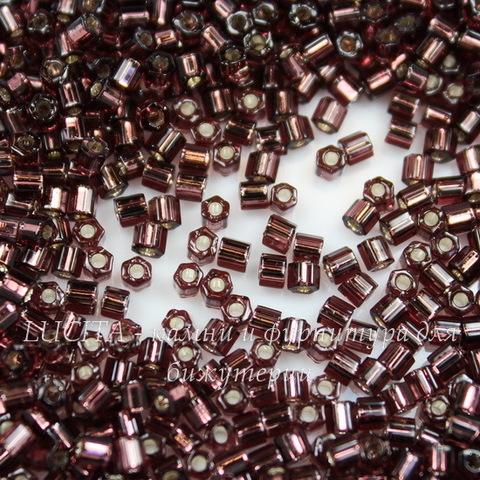 0026C Бисер японский TOHO Hexagon (шестиугольный) 11/0, аметист с внутренним серебрением