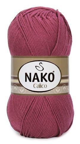 Пряжа Nako Calico бордо 6736