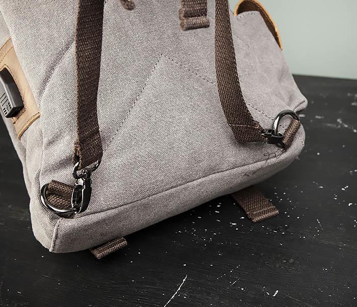BAG476-3 Удобный мужской рюкзак с USB зарядкой фото 08