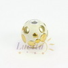 """Бусина """"Индонезийская"""" ручной работы белая с золотом, 18 мм"""