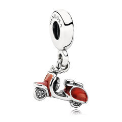 Red Scooter Dangle Charm