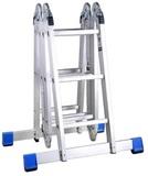 Лестница-трансформер ЗУБР ЭКСПЕРТ алюминиевая с платформой, 4х3 ступени