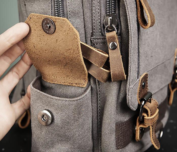 BAG476-3 Удобный мужской рюкзак с USB зарядкой фото 10