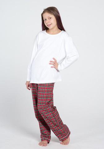 Фланелевые брюки с трикотажной кофтой для девочек