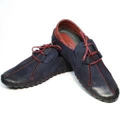 Темно синие мужские туфли спортивного типа Luciano Bellini 23406-00 LNBN.