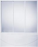 шторки для ванной 150см, 3-х створчатая, Пластик