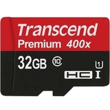 MicroSDHC 32GB Transcend Premium Class 10 UHS-I U1 (SD адаптер)