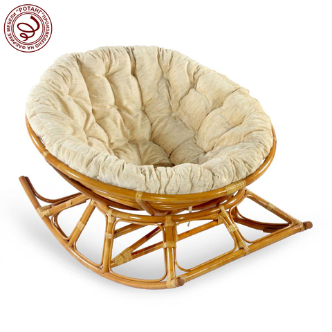 Кресло-качалка PAPASAN Feather  (подушка рогожка)
