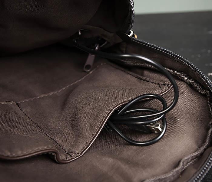 BAG476-3 Удобный мужской рюкзак с USB зарядкой фото 11