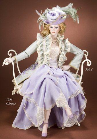 Диванчик-пуфик для фарфоровой куклы Marigio