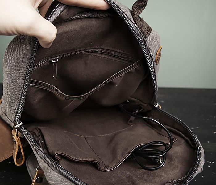 BAG476-3 Удобный мужской рюкзак с USB зарядкой фото 12