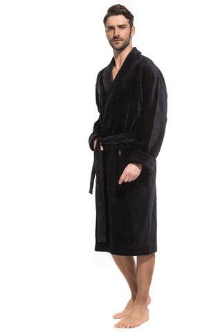 Мужской махровый халат Optimum 941 черный PECHE MONNAIE   Россия