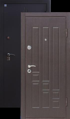 Дверь входная Алмаз Топаз 2, 2 замка, 1,5 мм  металл, (чёрный шёлк+венге)