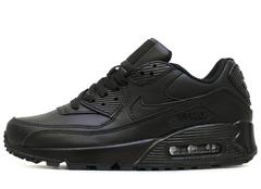 Кроссовки Мужские Nike Air Max 90 Black Leather