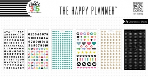 Блокнот со стикерами для ежедневника Create 365 Planner Stickers- Alpha Black