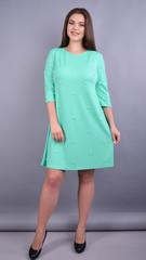 Жемчуг. Стильное платье плюс сайз для женщин. Мята.