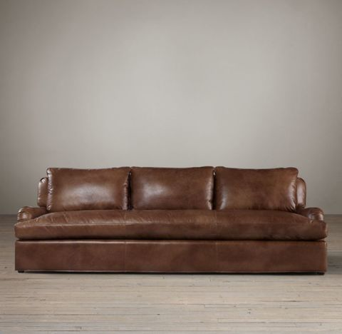 Belgian Classic Roll Arm Leather Sofa