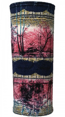 Утеплённый Баф Ray Blue-Pink Print