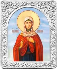Святая Валерия. Маленькая икона в серебряной раме.