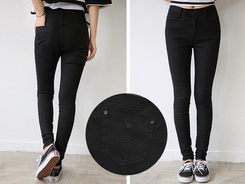 A8339  джинсы женские, черные