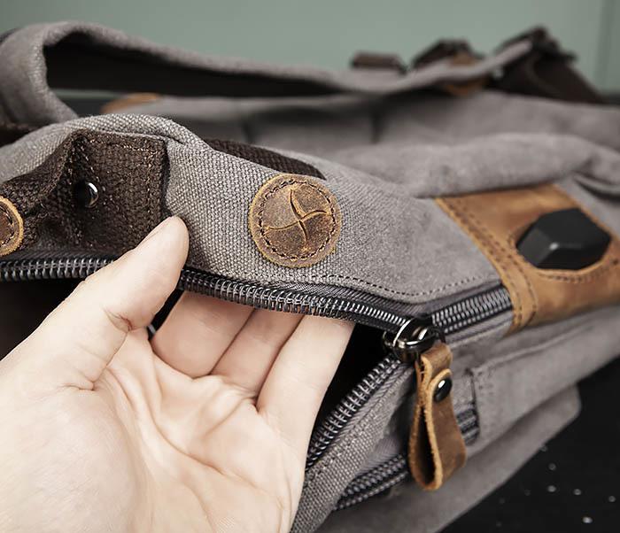 BAG476-3 Удобный мужской рюкзак с USB зарядкой фото 13