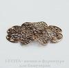 Винтажный декоративный элемент - филигрань 48х37 мм (оксид латуни)