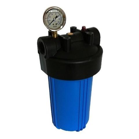 Корпус фильтра + манометр B907-BK1-PR (  (корпус ВВ10 синий корпус., вход 1