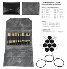 Набор разъемных спиц LYKKE Grey