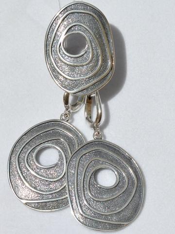 034 (кольцо + серьги из серебра)
