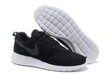 Кроссовки Мужские Nike Roshe Run Material Black Top White