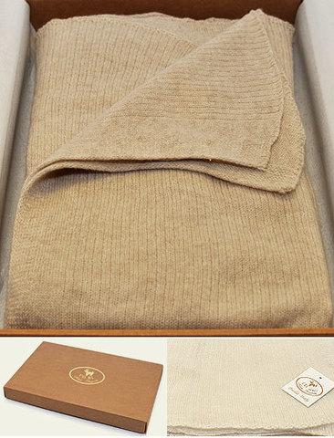 Элитный плед-шарф кашемировый Stole коричневый от CO.BI.