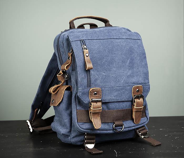 BAG476-4 Городской рюкзак синего цвета USB выходом