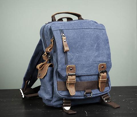 Городской рюкзак синего цвета USB выходом